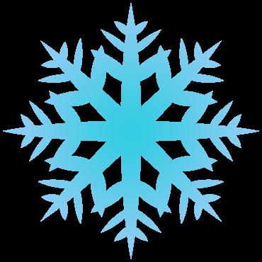 ごっつい雪の結晶イラスト