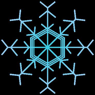 アートな雪の結晶イラスト