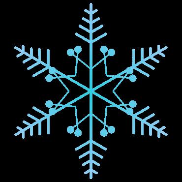 キュートな雪の結晶イラスト