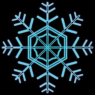 マーク的な雪の結晶イラスト
