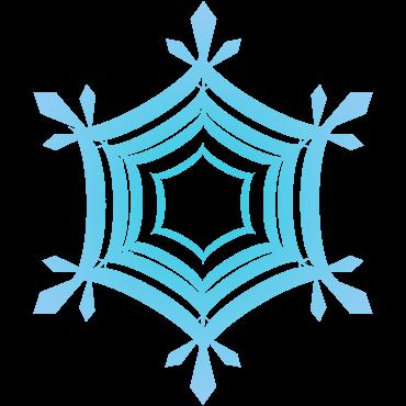 チコデザおすすめの雪の結晶イラスト