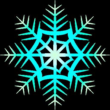 冷たく輝く雪の結晶イラスト