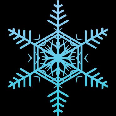 普通の雪の結晶イラスト