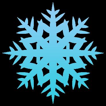 太い六花とギザギザ雪の結晶イラスト