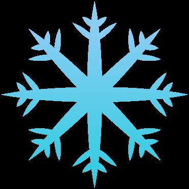 先端にとげと太い雪の結晶イラスト