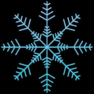 神秘的な雪の結晶イラスト