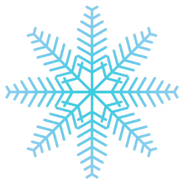 凍り付いた雪の結晶イラスト