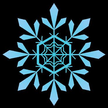 クリスタル風の雪の結晶イラスト