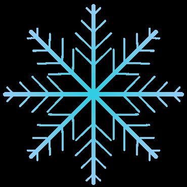 細い雪の結晶イラスト