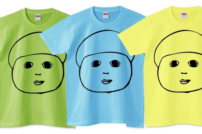 インパクトのある顔Tシャツ