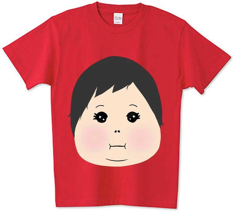 ユニークなチコデザ赤ちゃんの顔Tシャツ