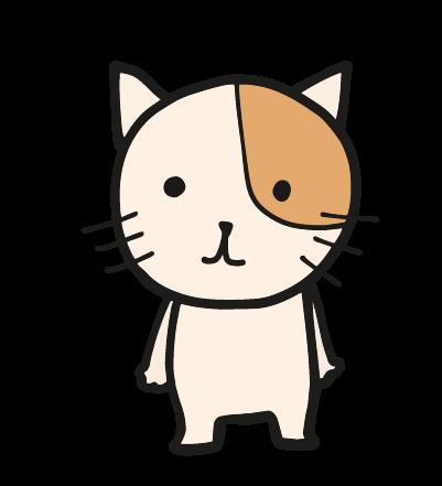 ゆるい猫のイラスト