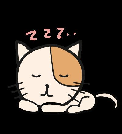 眠るゆる猫のイラスト
