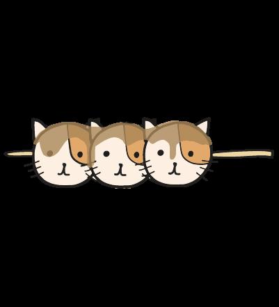 団子猫のイラスト