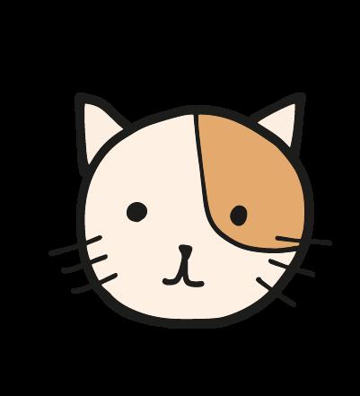 ゆる猫の顔のイラスト