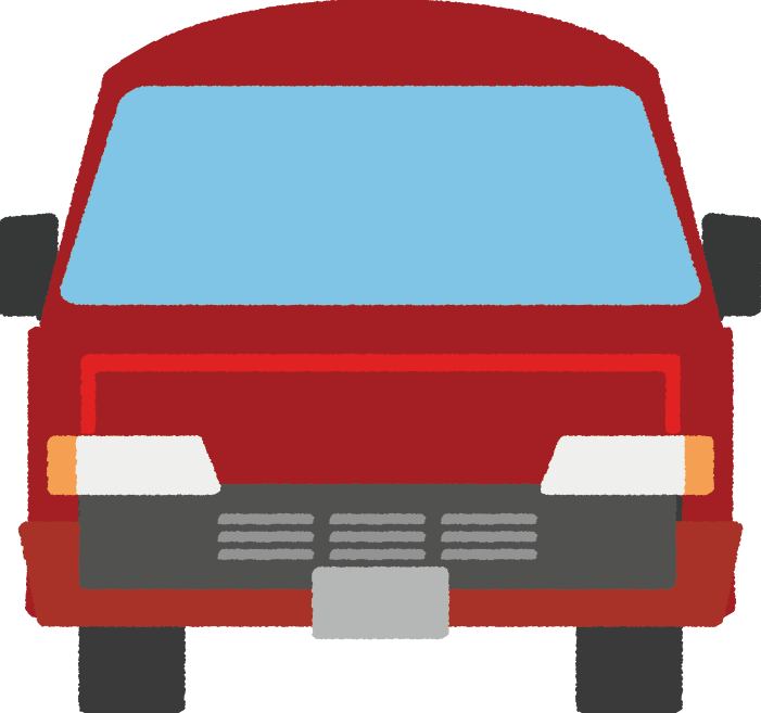 可愛い郵便車のイラスト(正面)