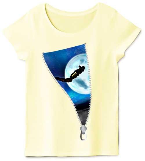 アート宇宙のレディースTシャツ