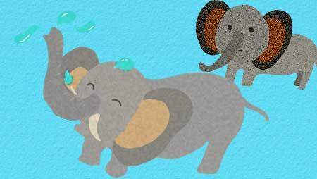 ぞうイラスト - フリーで使えるかわいい動物無料素材集