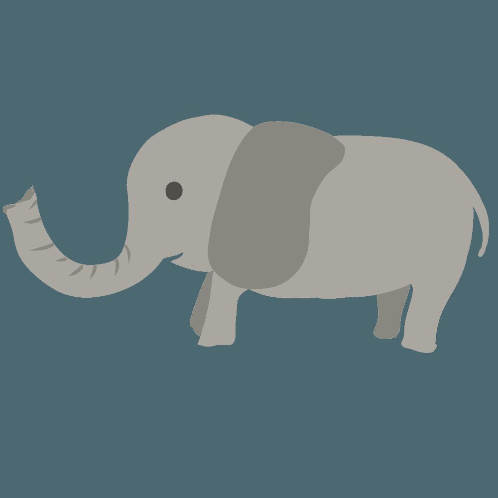 象のイラストの簡単な書き方