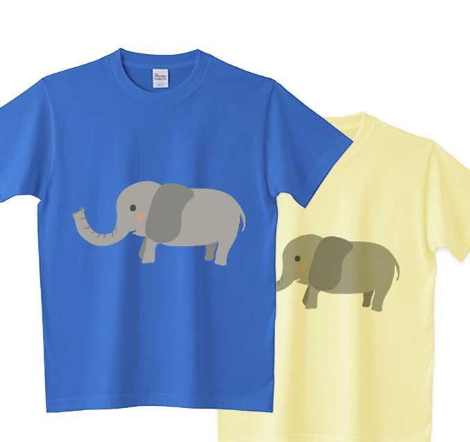 象ノーマルtシャツ