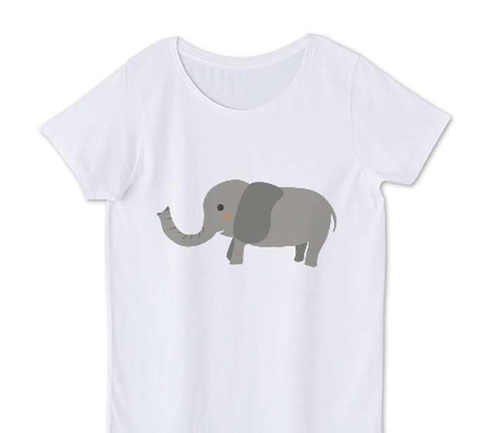 象レディースtシャツ