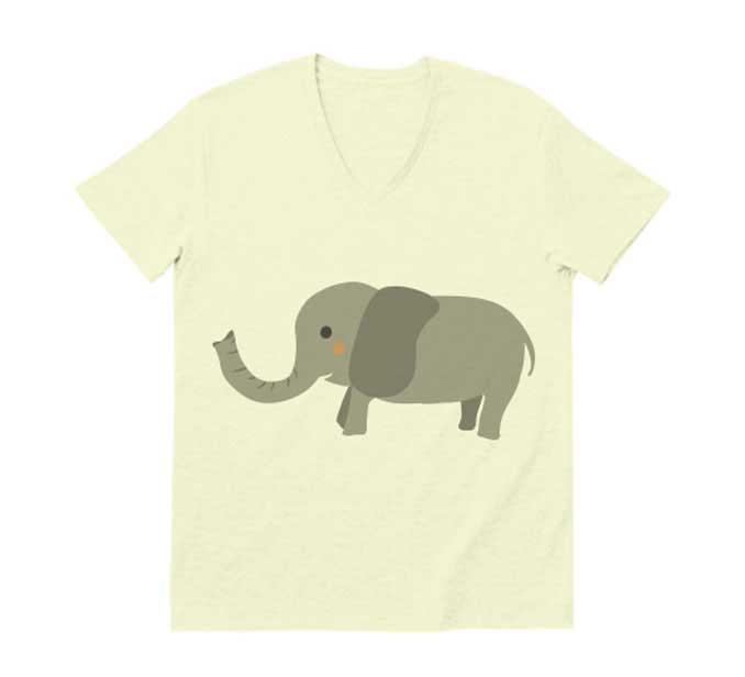 象v字ネックtシャツ