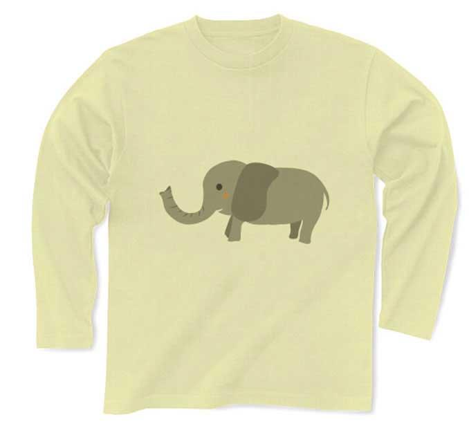 象のロングtシャツ